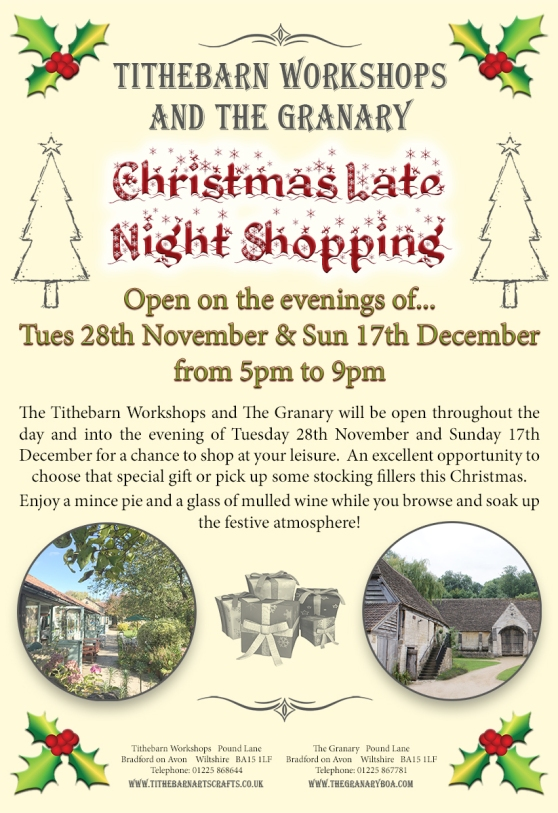 tithebarn-workshops-late-night-christmas-shopping